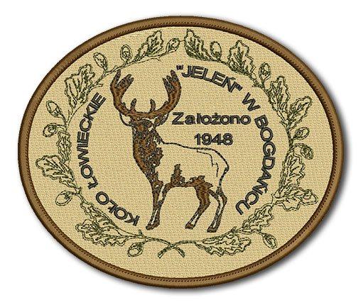 naszywka �owiecka, ko�o my�liwskie, haftowane