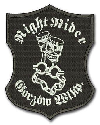 naszywka dla motocyklist�w, emblemat, motor, haft