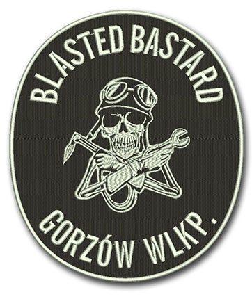 haftowany emblemat motocyklowy
