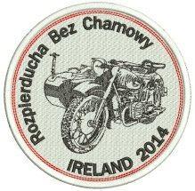 emblemat motocyklowy, dla lub�w, haftowany
