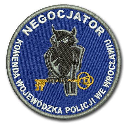 policyjny haft, naszywki na rami�