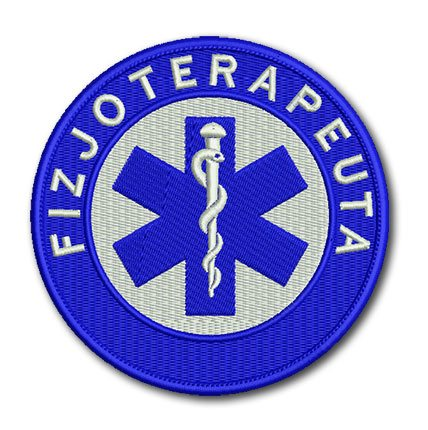 ratownik medyczny, haftowana naszywka, emblemat